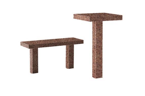 Комплект гранитный столик и лавка