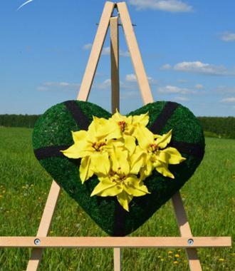 Венок «Сердце Лилии» (высота 30см)